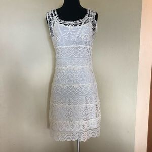 NWT Solitaire by ravikhosla Crochet Dress M